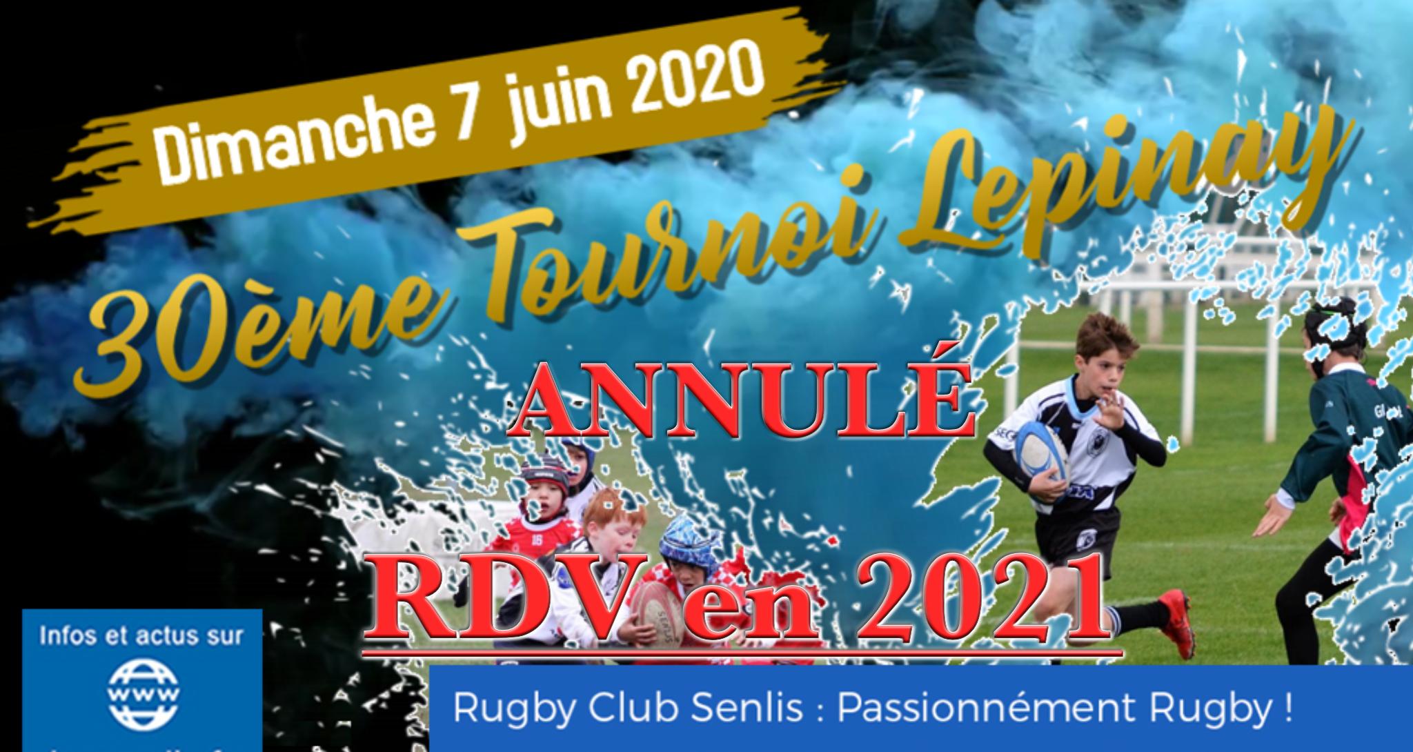 30ème Tournoi Maurice Lepinay - Annulé